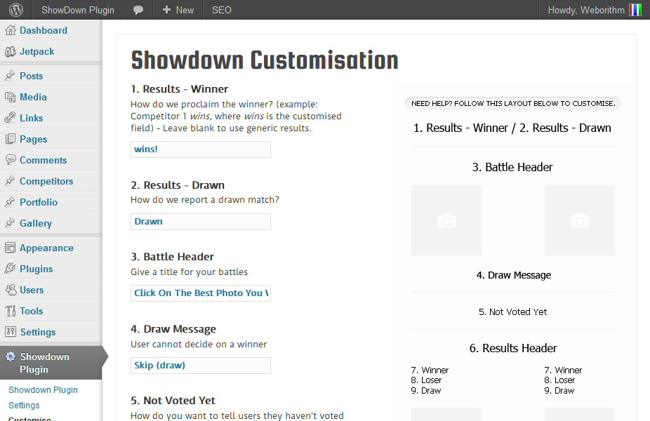 ShowDown-Customise